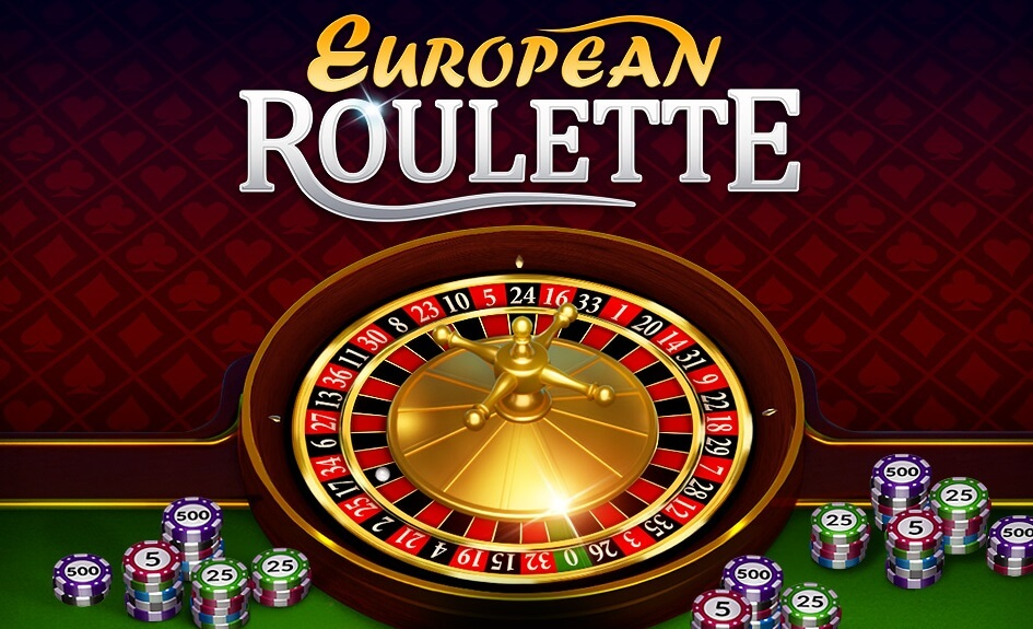 Playing European roulette online for free or real money.